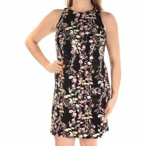 INC Black Floral Shift Dress MD NWT